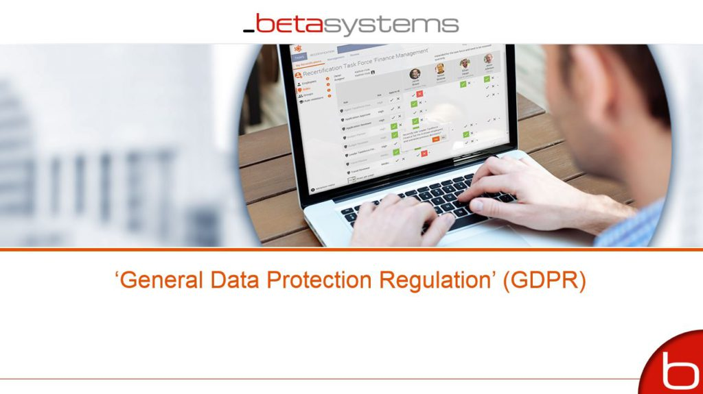 GDPR – General Data Protection Regulation